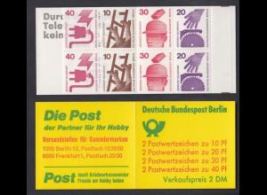 Berlin Markenheftchen 9d I a Unfallverhütung 1974 postfrisch