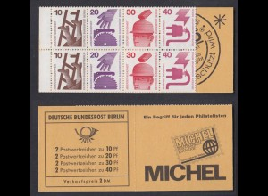 Berlin Markenheftchen 8a Unfallverhütung 1972 postfrisch geschlossen