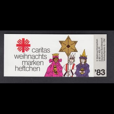 Bund Caritas Weihnachten Markenheftchen 5x 1196 80+ 40 Pf 1983 postfrisch