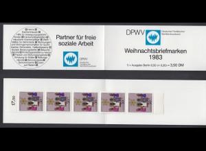 Berlin Caritas Weihnachten Markenheftchen 5x 707 50+ 20 Pf 1983 postfrisch /2