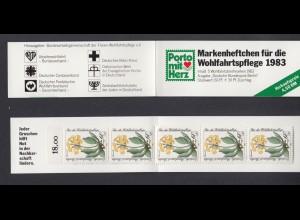 Berlin Wohlfahrt Markenheftchen 5x 704 60+ 30 Pf 1984 postfrisch