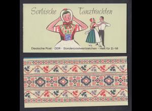 DDR Markenheftchen 5 I a Sorbische Tanztrachten postfrisch