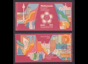 DDR Markenheftchen 7.1 Weltfestspiele der Jugend 1973 postfrisch