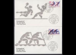 Bund 2 FDC`s mit 1009-1010 Sporthilfe mit ESST 5.4.1979
