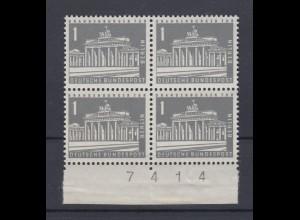 Berlin 140 y mit Bogennummer 4er Block Berliner Stadtbilder 1 Pf postfrisch