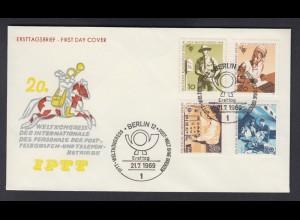 Berlin FDC mit 342-345 Weltkongress des Personals der Post ESST 21.7.1969