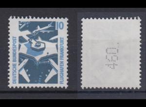 Bund 1347 A v RM mit senkrechter gerader neuer Nummer SWK 10 Pf postfrisch