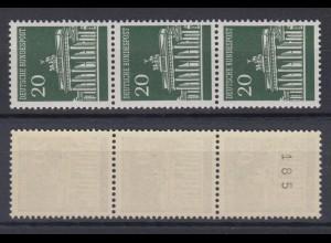 Bund 507 v RM 3er Streifen ungerade Nummer unten Brandenburger Tor 20 Pf **