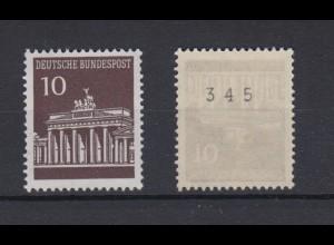 Bund 506 v RM ungerade Nummer Brandenburger Tor 10 Pf postfrisch
