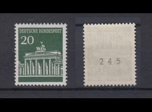 Bund 507 v RM ungerade Nummer Brandenburger Tor 20 Pf postfrisch