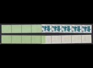 Bund 700 c RE 5+4 grün/plantol grüne Nr. Unfallverhütung 50 Pf postfrisch