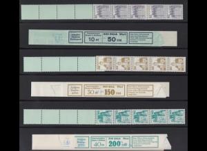 Bund 913-920 alte Fluoreszenz RE 5+4 + Banderole Burgen+Schlösser postfrisch