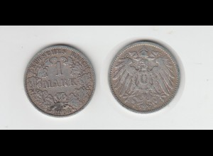 Silbermünze Kaiserreich 1 Mark 1904 A Jäger Nr. 17 /25