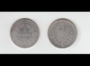 Silbermünze Kaiserreich 1 Mark 1875 A Jäger Nr. 9 /113