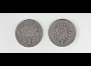 Silbermünze Kaiserreich 1 Mark 1876 F Jäger Nr. 9 /123