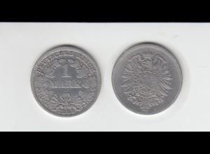 Silbermünze Kaiserreich 1 Mark 1881 D Jäger Nr. 9 /127