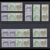 Bund Burgen + Schlösser 9 verschiedene Zusammendrucke postfrisch