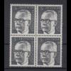 Bund 635 4er Block Gustav Heinemann (I) 5 Pf postfrisch