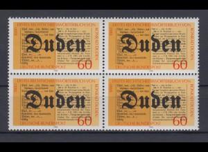 Bund 1039 4er Block 100 Jahre Konrad Duden 60 Pf postfrisch