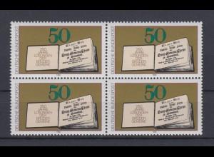 Bund 1054 4er Block Erstes gedrucktes Losungsbuch 50 Pf postfrisch