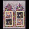 Bund Block 56 Weihnachten Gemälde und Spanien 0,51, 0,45, 0,56 € ESST Berlin
