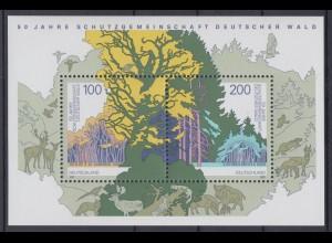 Bund Block 38 Deutscher Wald 1997 100 Pf + 200 Pf postfrisch