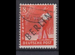 Berlin 3 Schwarzaufdruck 8 Pf gestempelt /5