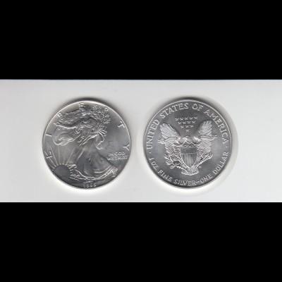 Silbermünze 1 OZ USA Liberty 1 Dollar 1995