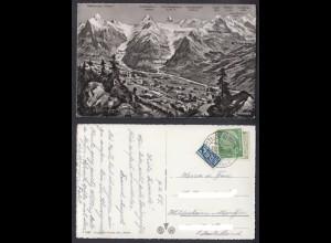 Ansichtskarte Grindelwald mit Bergansicht gestempelt Görwihl