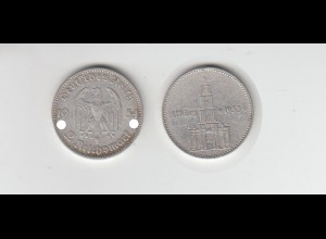 Silbermünze 2 RM Garnisonkirche 1934 J Jäger Nr. 355/1 mit Datum