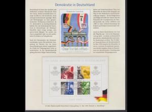 Sonderblatt Bund Block 49 I mit Plf. 50 Jahre Bundesre. Deutschland ESST Berlin