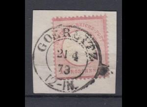Dt. Reich 19 Adler mit großem Brustschild 1 Groschen gestempelt auf Briefstück/1