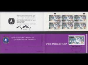 Bund Sport Markenheftchen 6x 1449 100+ 50 Pf 1990 Ersttagsstempel Bonn