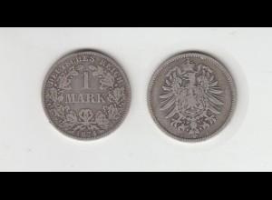 Silbermünze Kaiserreich 1 Mark 1874 A Jäger Nr. 9 /28
