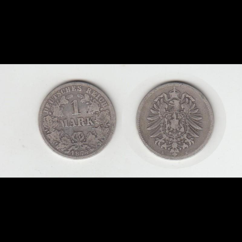 Silbermünze Kaiserreich 1 Mark 1874 E Jäger Nr 9 116 Philastudio