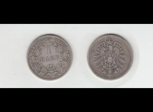 Silbermünze Kaiserreich 1 Mark 1875 D Jäger Nr. 9 /136