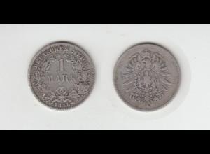 Silbermünze Kaiserreich 1 Mark 1876 F Jäger Nr. 9 /145