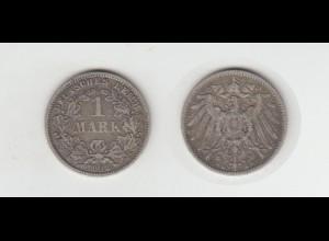 Silbermünze Kaiserreich 1 Mark 1892 G Jäger Nr. 17 /46