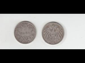 Silbermünze Kaiserreich 1 Mark 1903 A Jäger Nr. 17 /51