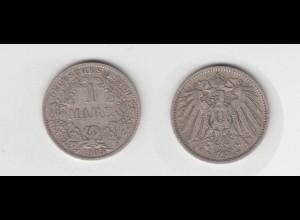 Silbermünze Kaiserreich 1 Mark 1905 A Jäger Nr. 17 /41