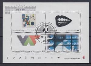Bund Block 39 Documenta Kassel 1997 4x 100 Pf ESST Berlin