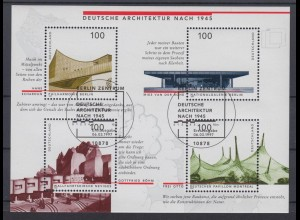 Bund Block 37 Deutsche Architektur nach 1945 4x 100 Pf ESST Berlin