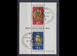 Bund Block 9 IBRA 1973 München 40+ 20 Pf + 70+ 35 Pf ESST Bonn
