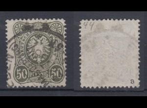 Deutsches Reich 44a Reichsadler im Oval 50 Pf gestempelt Farbgeprüft /2