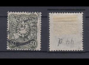 Deutsches Reich 44b Reichsadler im Oval 50 Pf gestempelt Farbgeprüft /3