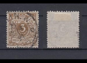 Deutsches Reich 45a Wertziffer Krone Perlenoval 3 Pf gestempelt geprüft Zenker