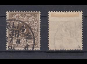 Deutsches Reich 45b Wertziffer Krone Perlenoval 3 Pf gestempelt Farbgeprüft /3