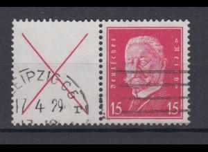 Dt. Reich ZD W 30.1 Hindenburg Mi.Nr. 514 15 Pf gestempelt