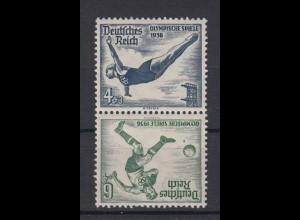 Dt. Reich ZD SK 27 Olympische Sommerspiele Mi.Nr. 610/611 4+ 3 Pf, 6+ 4 Pf **