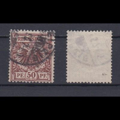Deutsches Reich 50d Reichsadler im Kreis 50 Pf gestempelt Farbgeprüft /6